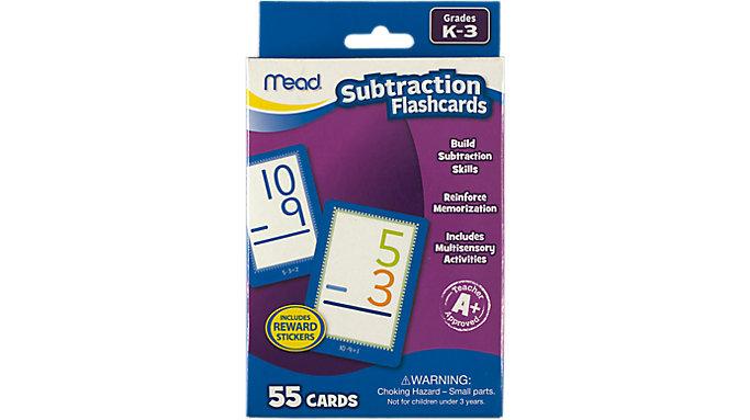 Mead Subtraction Flashcards Grades K-3  (63040)