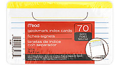 Bookmark Index Cards (Item # 63078)