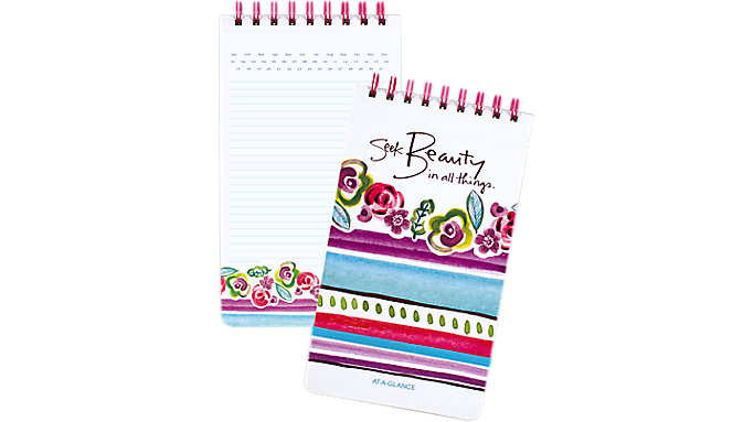 AT-A-GLANCE Kathy Davis Circle the Date Topbound Notebook  (635-403)