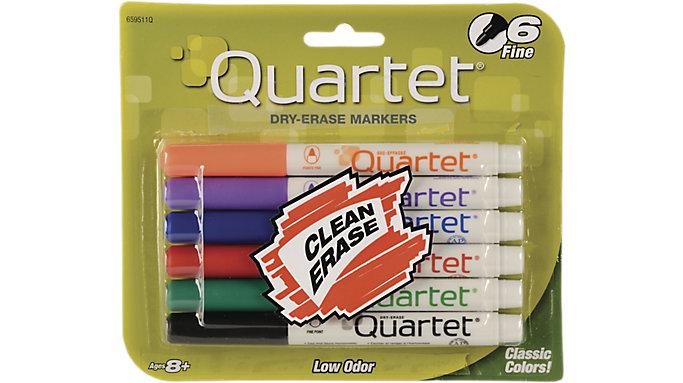 Quartet Low Odor Dry Erase Markers Fine Tip  (659511QA)