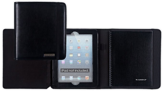 Mead Cambridge Business Notebook and Black Case for iPad  (67133)