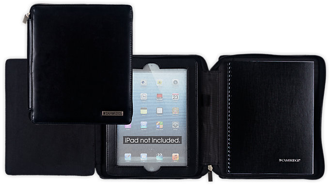 Cambridge Business Notebook and Deluxe Black Case for iPad  (67135)