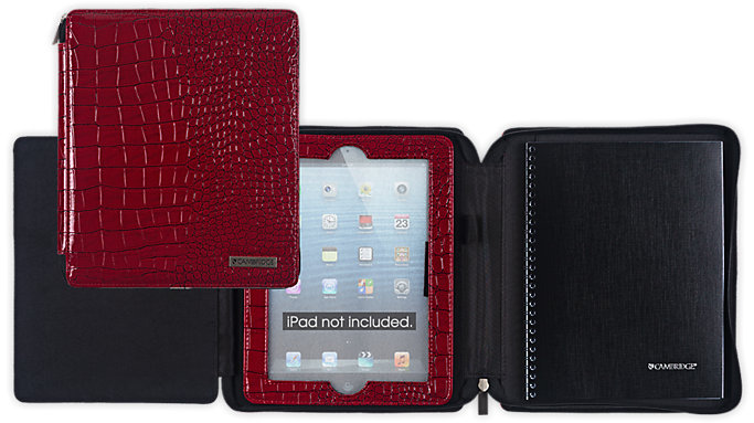 Cambridge Business Notebook and Deluxe Red Case for iPad  (67136)
