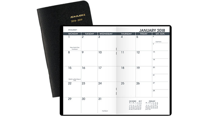 AT-A-GLANCE 2-Year Monthly Pocket Planner  (70024)