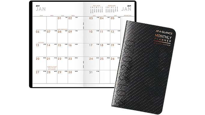 contempo 2 year pocket monthly planner 70024x at a glance