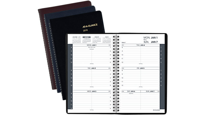 AT-A-GLANCE Weekly Appointment Book with Tabbed Telephone-Address Section  (70100)
