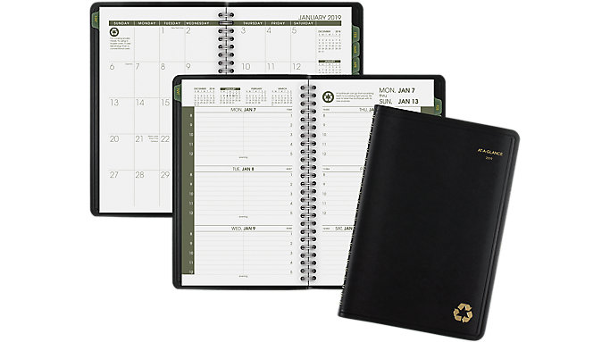 AT-A-GLANCE Recycled Weekly-Monthly Appointment Book  (70100G)