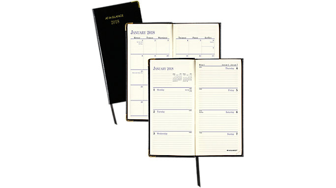 AT-A-GLANCE Fine Diary Weekly-Monthly Pocket Diary  (701110)