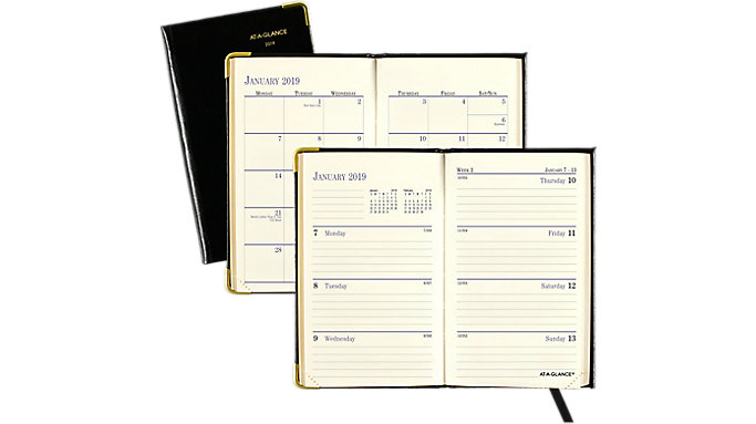AT-A-GLANCE Fine Diary Weekly-Monthly Pocket Diary  (701111)
