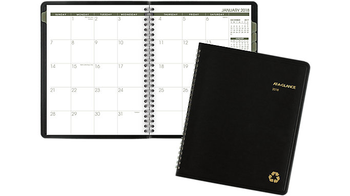 AT-A-GLANCE Recycled Monthly Planner  (70120G)