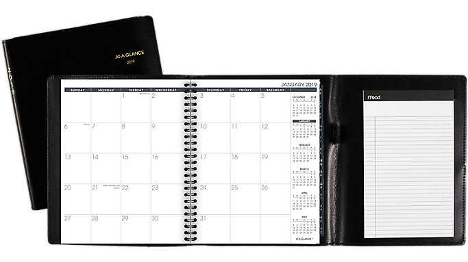 AT-A-GLANCE Monthly Planner Plus Writing Pad  (70120P)