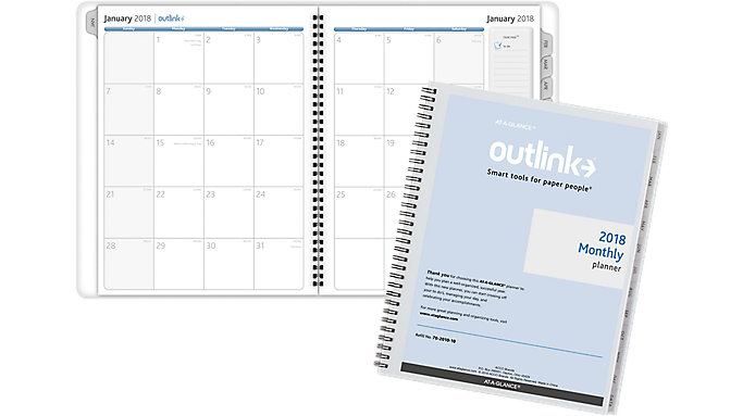 AT-A-GLANCE Outlink Monthly Planner Refill for 70-2002  (702010)