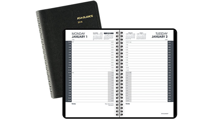 AT-A-GLANCE 24-Hour Daily Appointment Book  (70203)