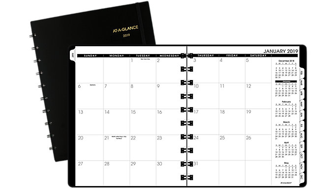 AT-A-GLANCE Monthly Planner with Poly Cover  (70260E)