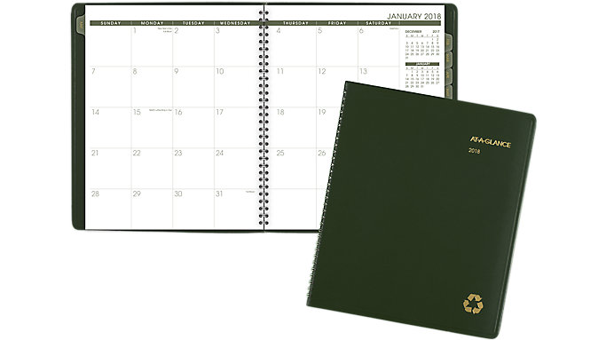AT-A-GLANCE Recycled Monthly Planner  (70260G)