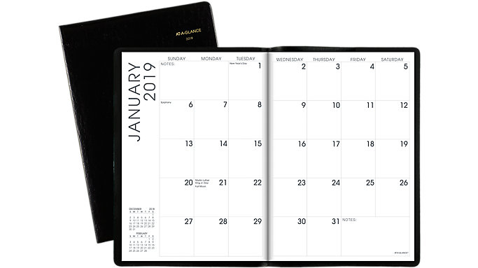 AT-A-GLANCE Faux Croc Monthly Planner  (70432)