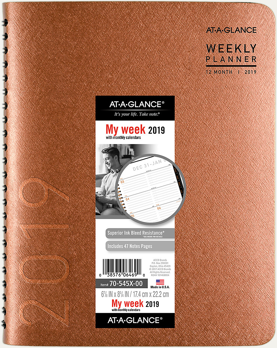 contempo weekly monthly planner 70545x at a glance