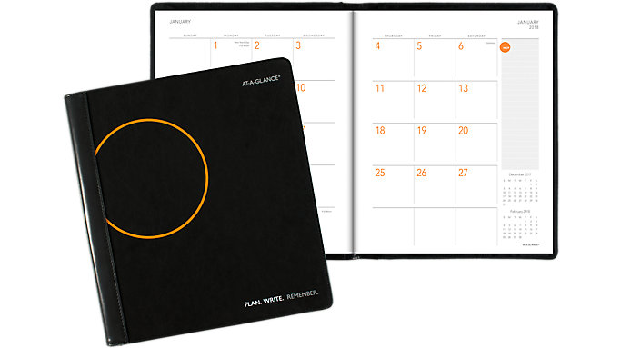 AT-A-GLANCE PLAN. WRITE. REMEMBER. Monthly Planner and Notebook  (706206)