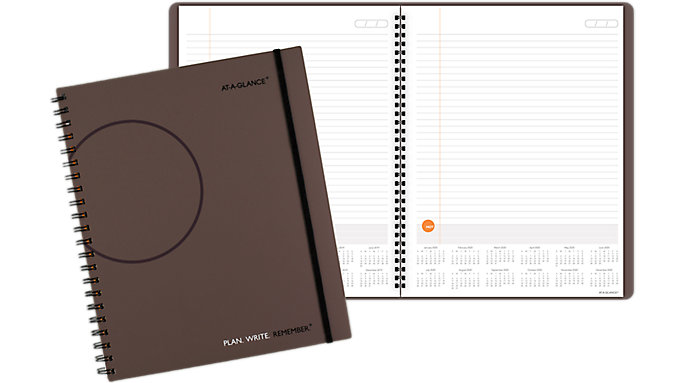 AT-A-GLANCE PLAN. WRITE. REMEMBER. Planning Notebook with Reference Calendars  (706209)