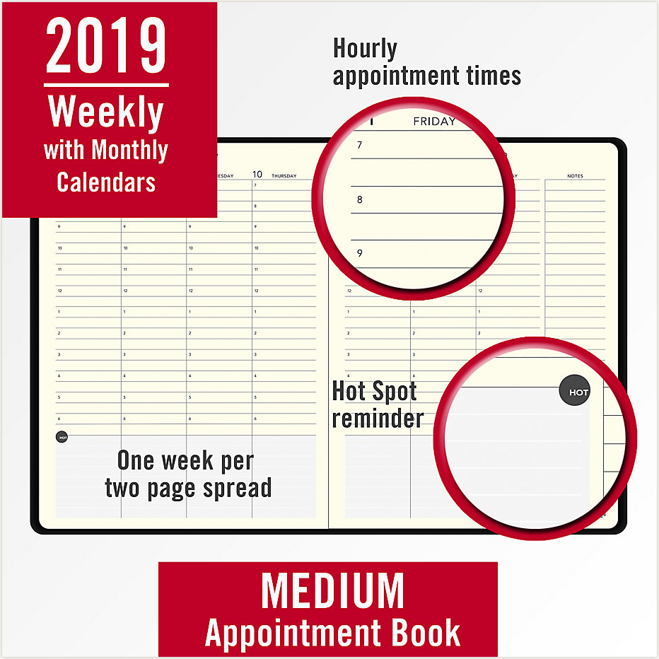plan write remember perfect bound weekly monthly appointment book