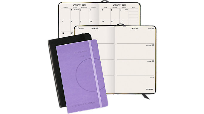 AT-A-GLANCE PLAN. WRITE. REMEMBER. Perfect Bound Weekly-Monthly Planner  (706D35)