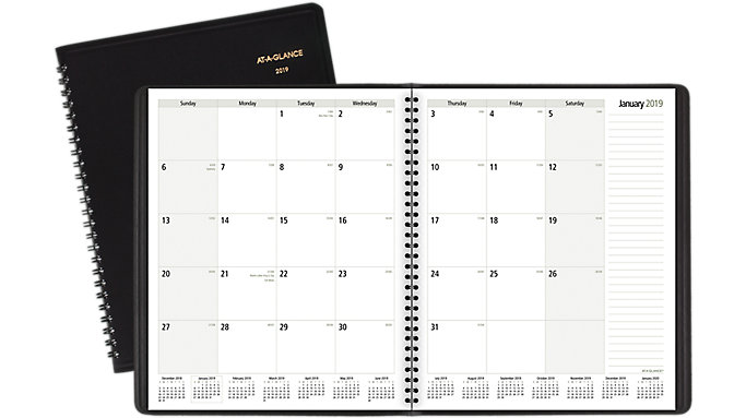 AT-A-GLANCE Notetaker Monthly Planner  (70730)