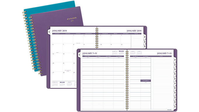 AT-A-GLANCE Notetaker Fashion Weekly-Monthly Planner  (70738F)