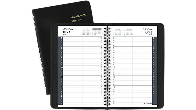 academic daily appointment book 70807 at a glance
