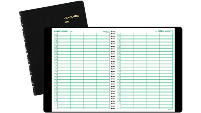 AT-A-GLANCE Four-Person Group Daily Appointment Book  (70822)