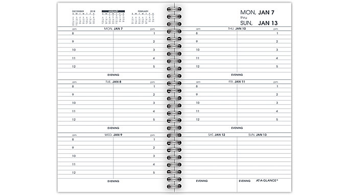AT-A-GLANCE Weekly Appointment Refill for 70-008  (70904)
