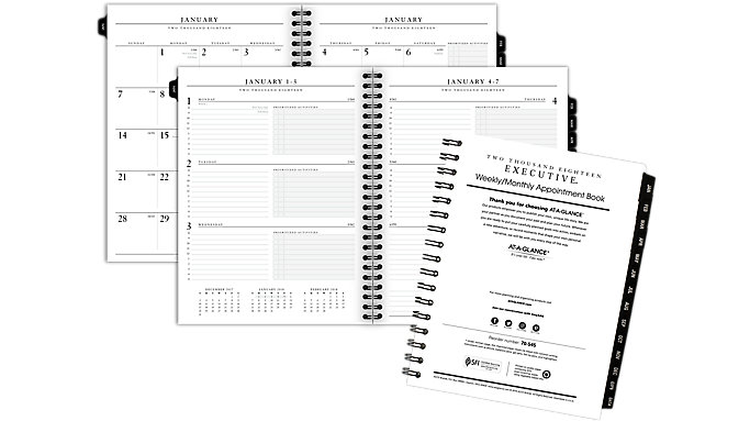AT-A-GLANCE Weekly-Monthly Appointment Book Refill for 70-545  (70908)