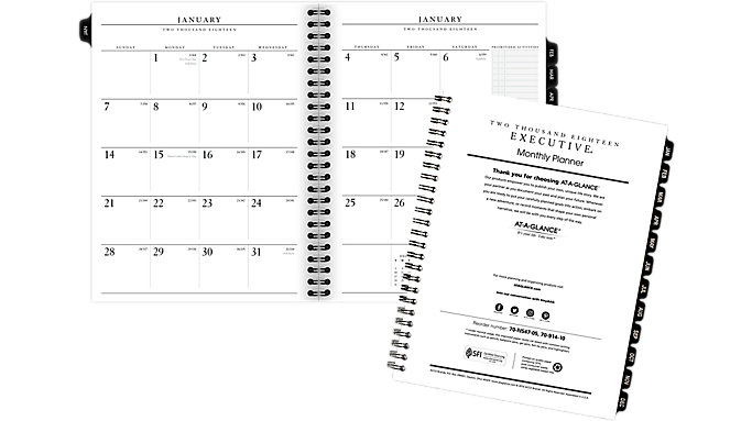 AT-A-GLANCE Monthly Planner Refill for 70-N547  (70914)