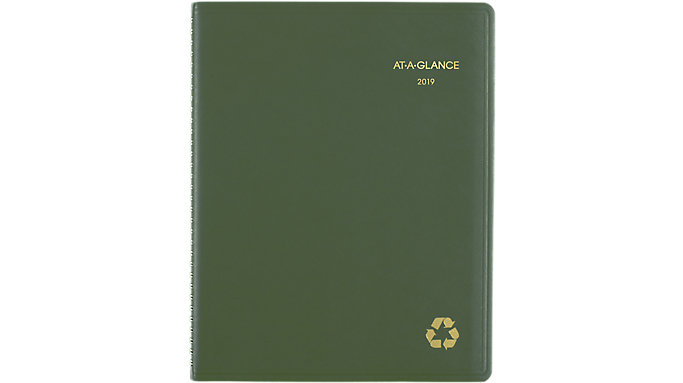 AT-A-GLANCE Recycled Weekly-Monthly Appointment Book  (70950G)