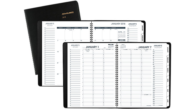AT-A-GLANCE Triple View Weekly-Monthly Appointment Book  (70950V)