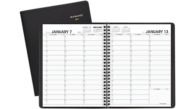 weekly appointment book 70951 at a glance