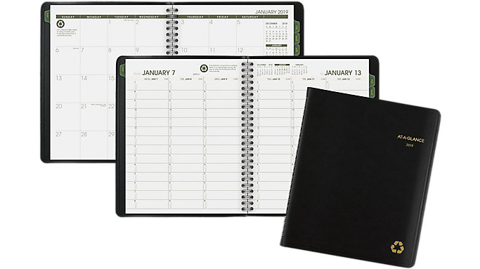AT-A-GLANCE Recycled Weekly-Monthly Appointment Book  (70951G)