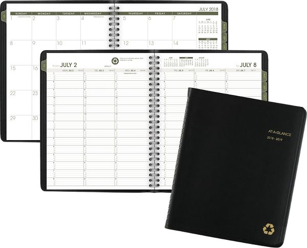 At-A-Glance Academic Recycled Weekly-Monthly Appointment Book - Academic Planning