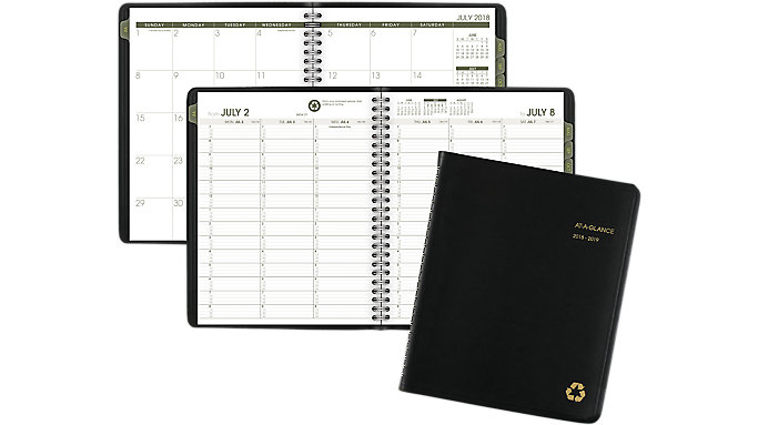 AT-A-GLANCE Academic Recycled Weekly-Monthly Appointment Book  (70958G)