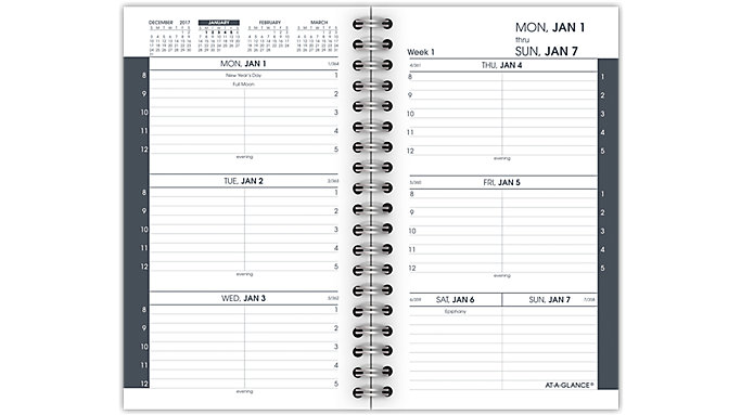 AT-A-GLANCE Weekly Pocket Refill for 70-128  (70991)