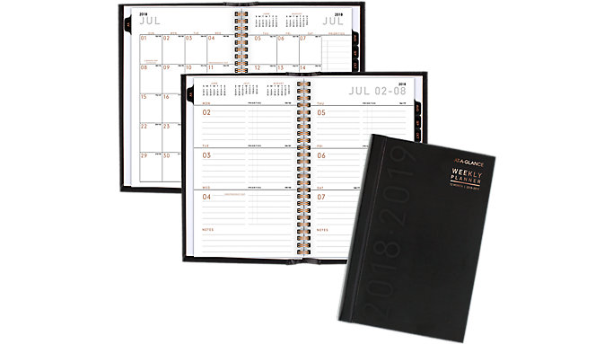 AT-A-GLANCE Contempo Academic Weekly-Monthly Hardcover Planner  (70H01X)
