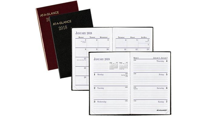 AT-A-GLANCE Fine Diary Weekly-Monthly Pocket Diary  (7201)