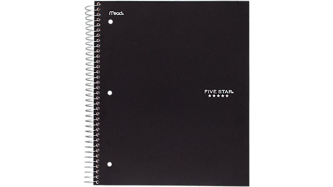 Five Star Wirebound Wide Ruled Notebook 3 Subject  (07112C)