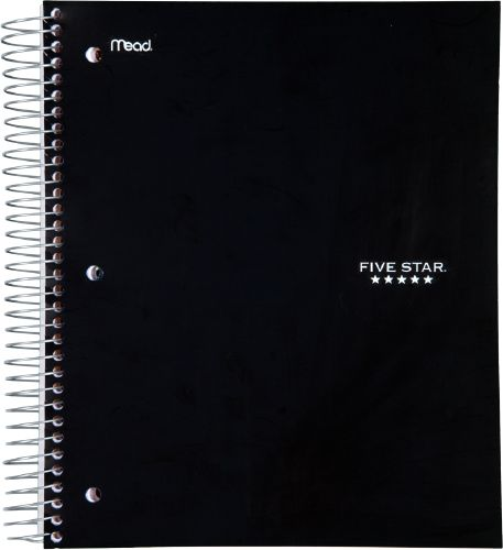 Wirebound Wide Ruled Notebook 5 Subject, 05206C By Five Star