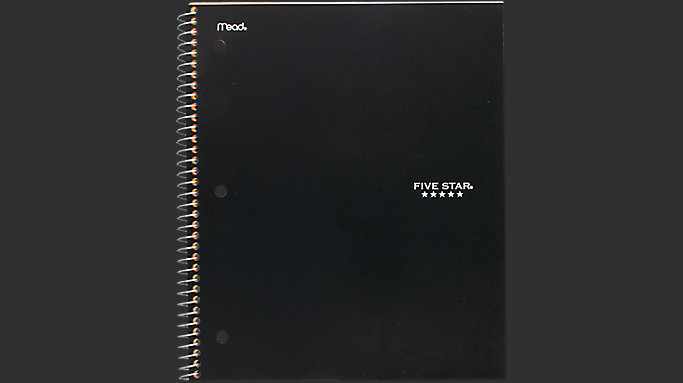Five Star Wirebound College Ruled Notebook 1 Subject
