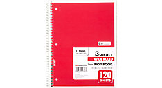 Spiral Notebook 3 Subject (Item # 05746C)