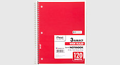 Spiral Notebook 3 Subject (Item # 05746C)