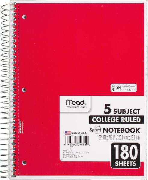 Mead Spiral Notebook...