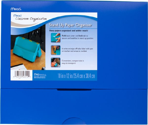Mead Stand Up Paper Organizer - Classroom & Office Storage