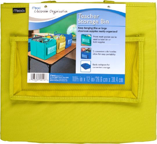 Mead Portable Fabric Storage Bin - Classroom & Office Storage