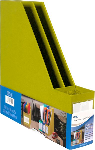Mead Labeled Desktop File - Classroom & Office Storage